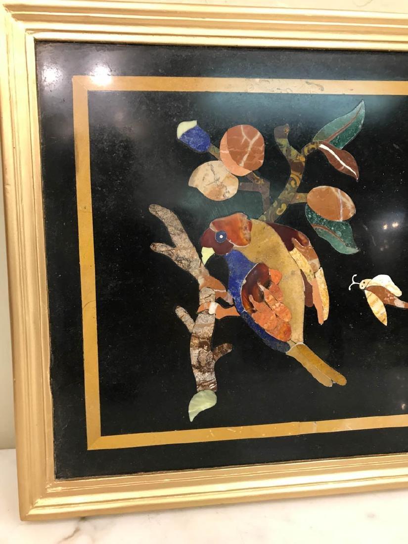 Pietra Dura Mosaic Art w/ Bird of Branch - 5