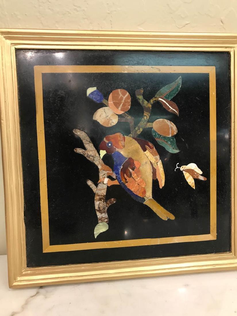 Pietra Dura Mosaic Art w/ Bird of Branch - 6