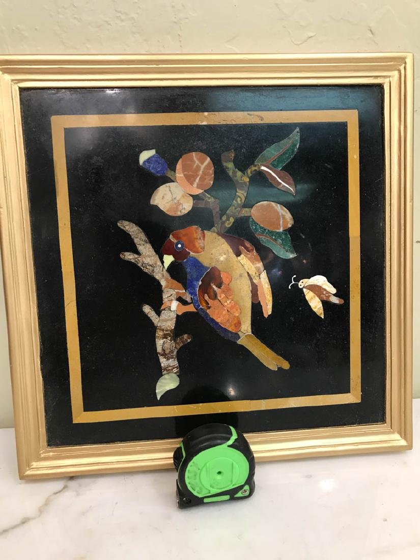 Pietra Dura Mosaic Art w/ Bird of Branch - 7