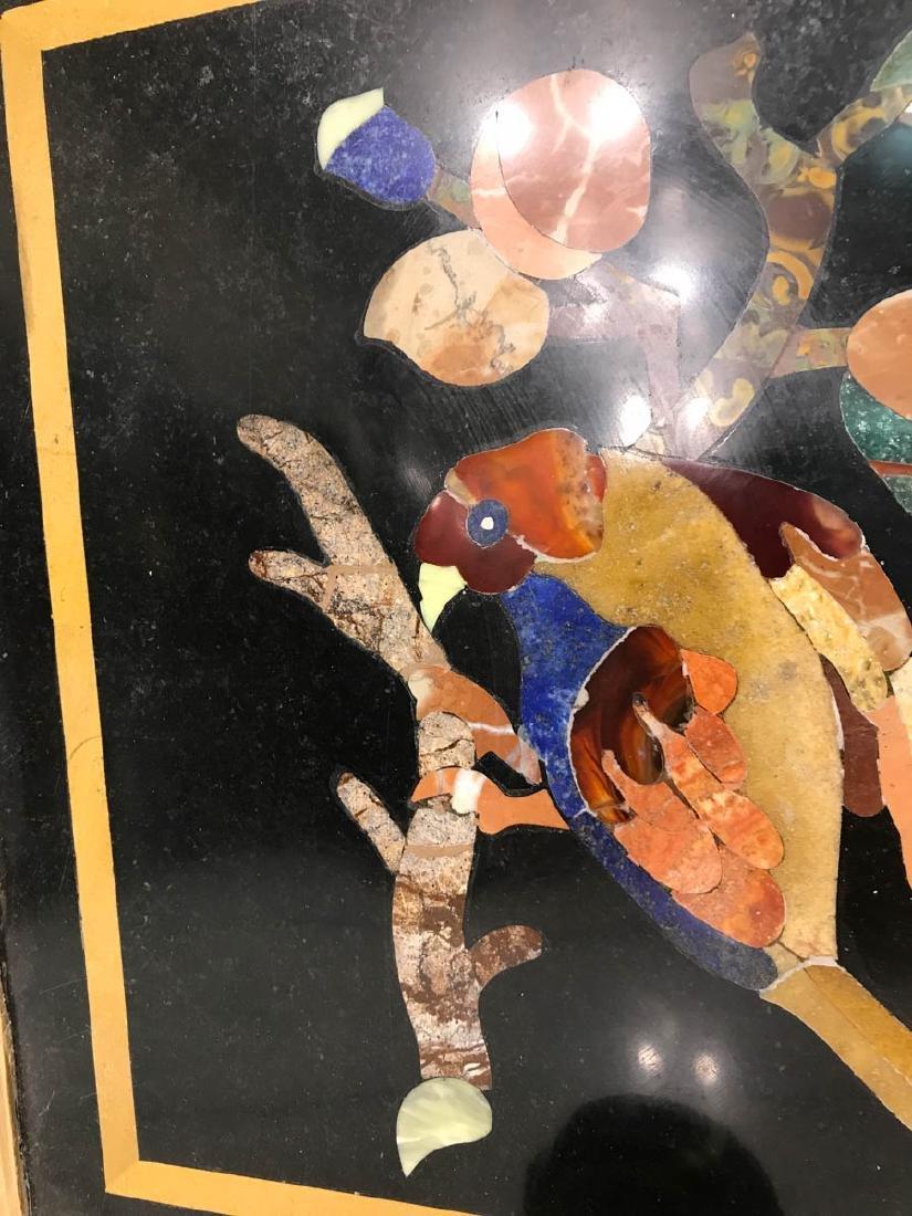 Pietra Dura Mosaic Art w/ Bird of Branch - 8