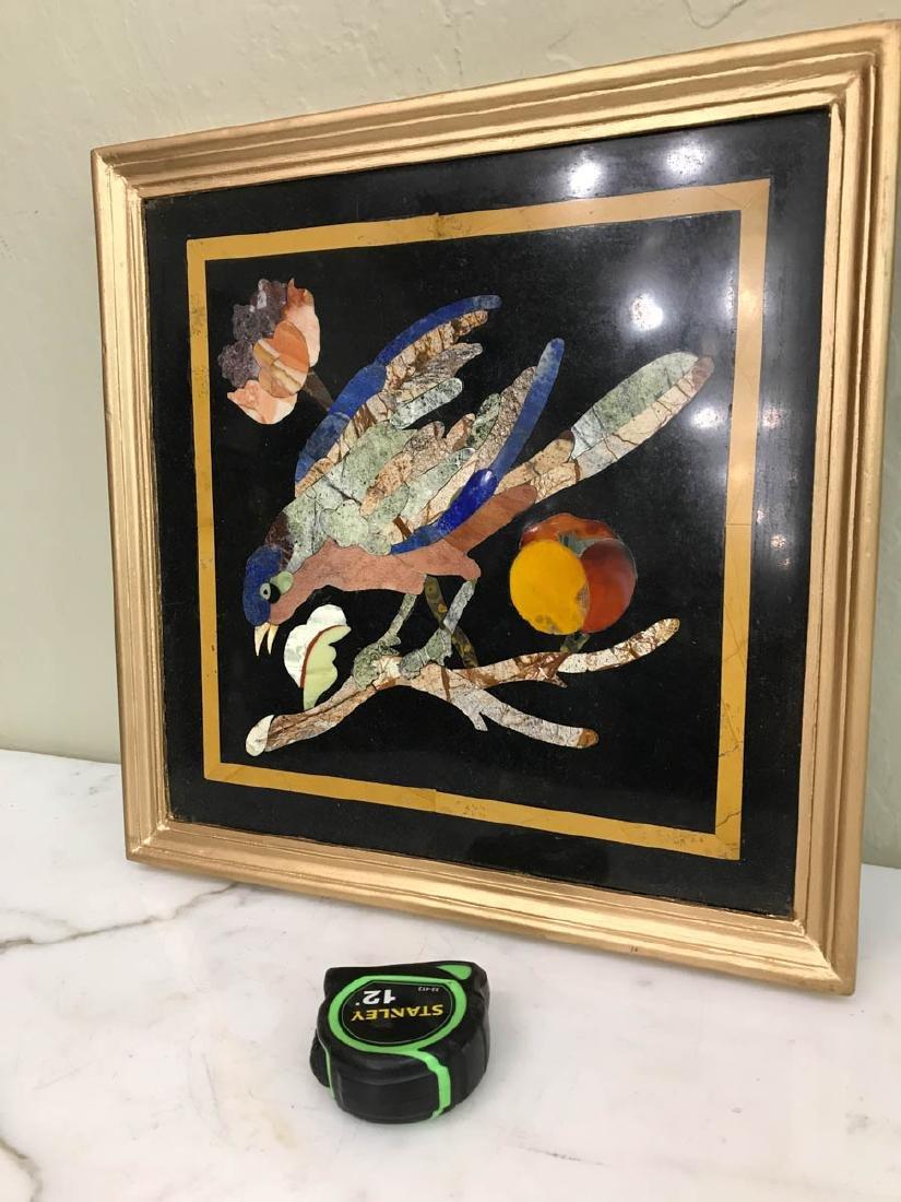 Pietra Dura Mosaic Art w/ Bird, Fruit on a Branch - 5
