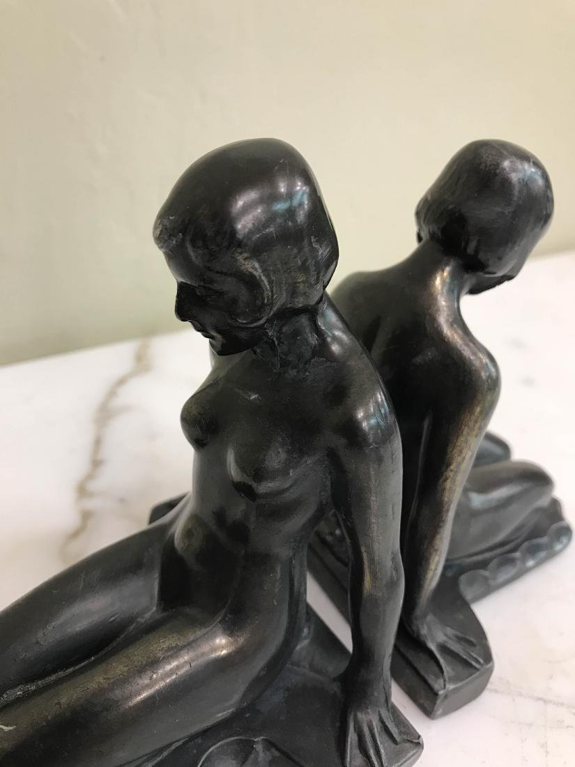 Erotic Nude Women Bronze Bookends - 6