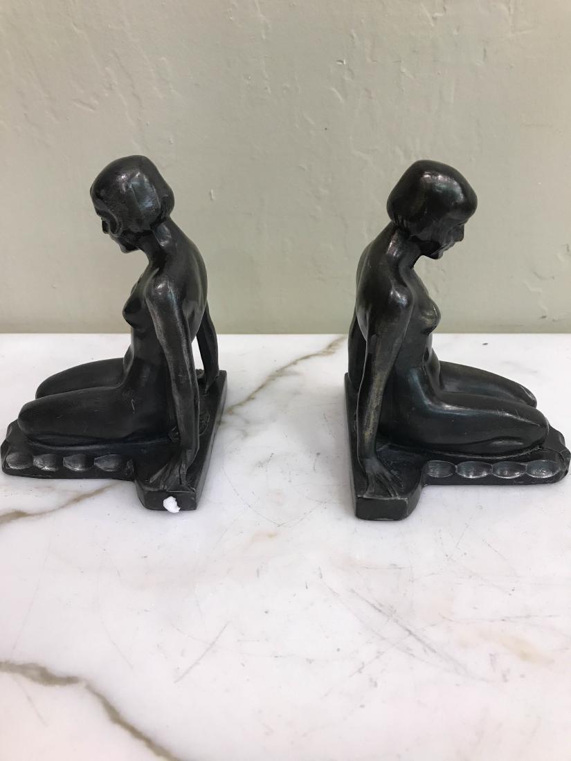 Erotic Nude Women Bronze Bookends