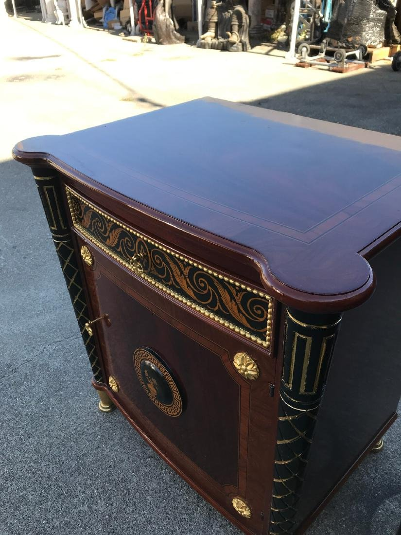 Pair of Unique End Tables w/ Gilded Accents - 3