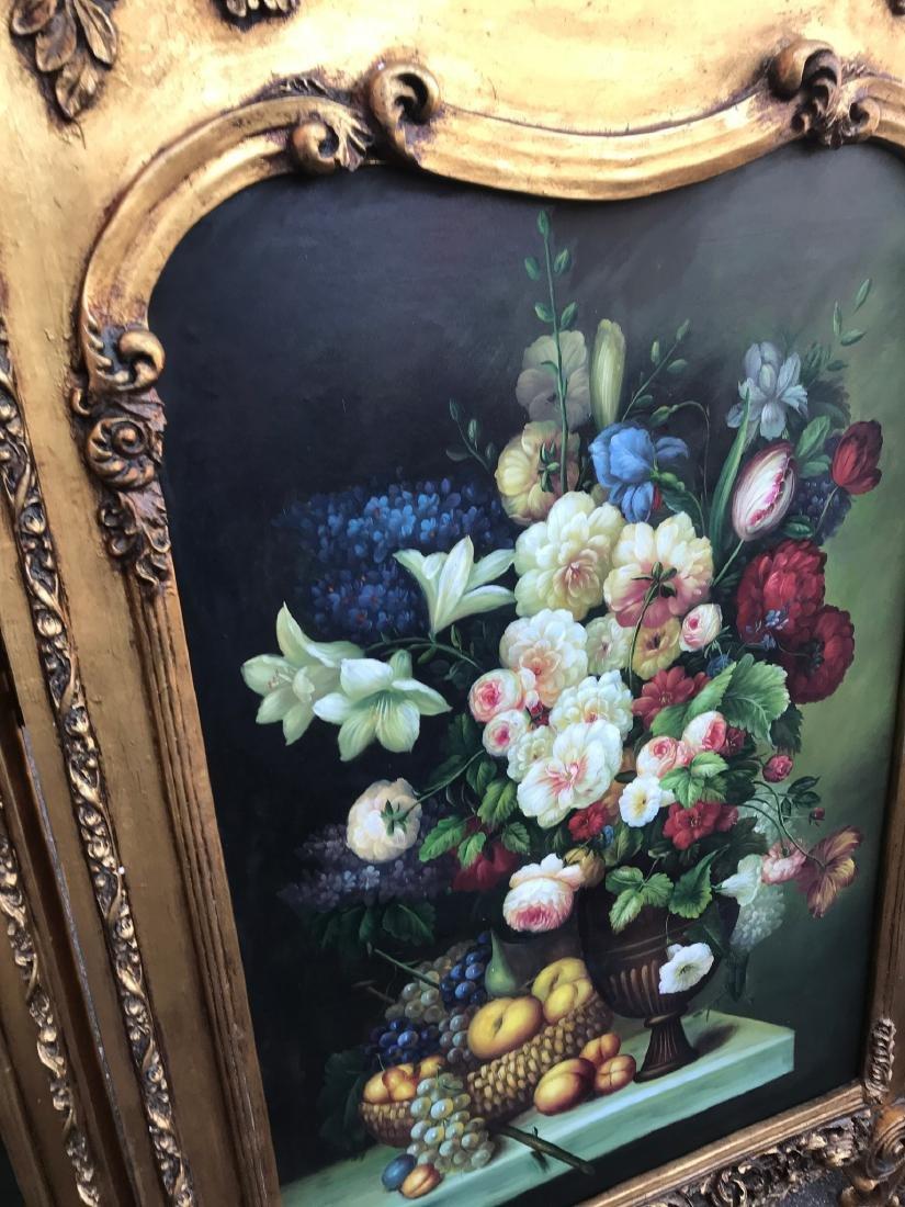 Gilded Screen with Cherubs, Beveled Mirror - 5
