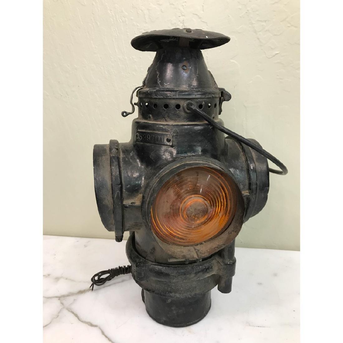 Antique Trunk Lamp, Lantern - 2