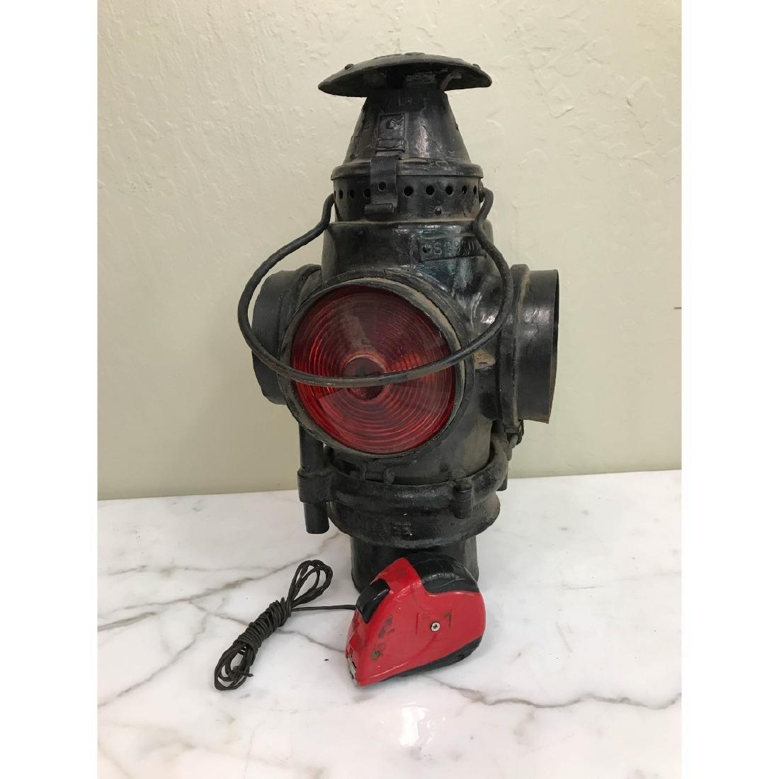 Antique Trunk Lamp, Lantern - 8