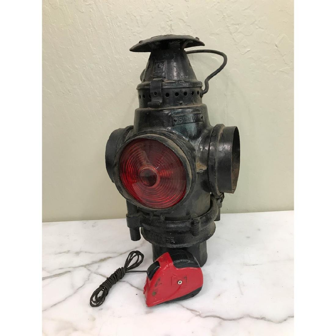 Antique Trunk Lamp, Lantern - 9