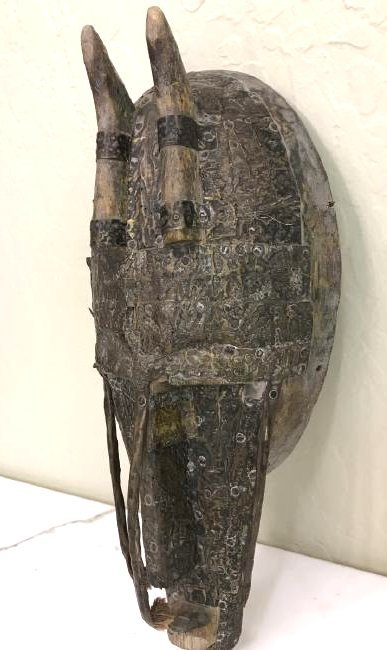 Unique Wood and Copper African Mask