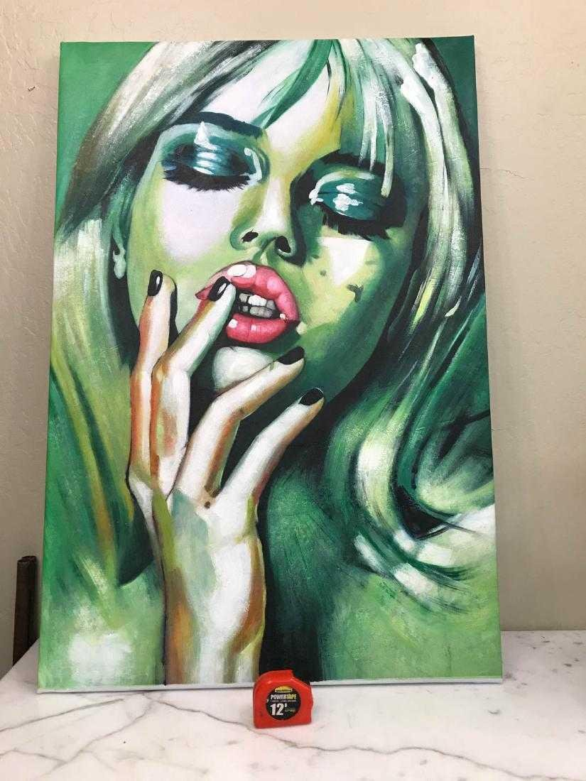 Abstract Oil on Canvas of Blonde Woman - 4
