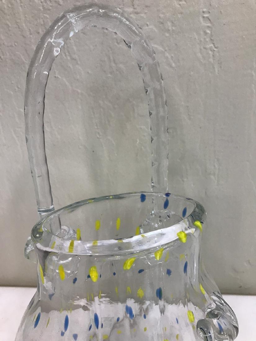 Hand-Blown Glass Purse-Shaped Vase - 3