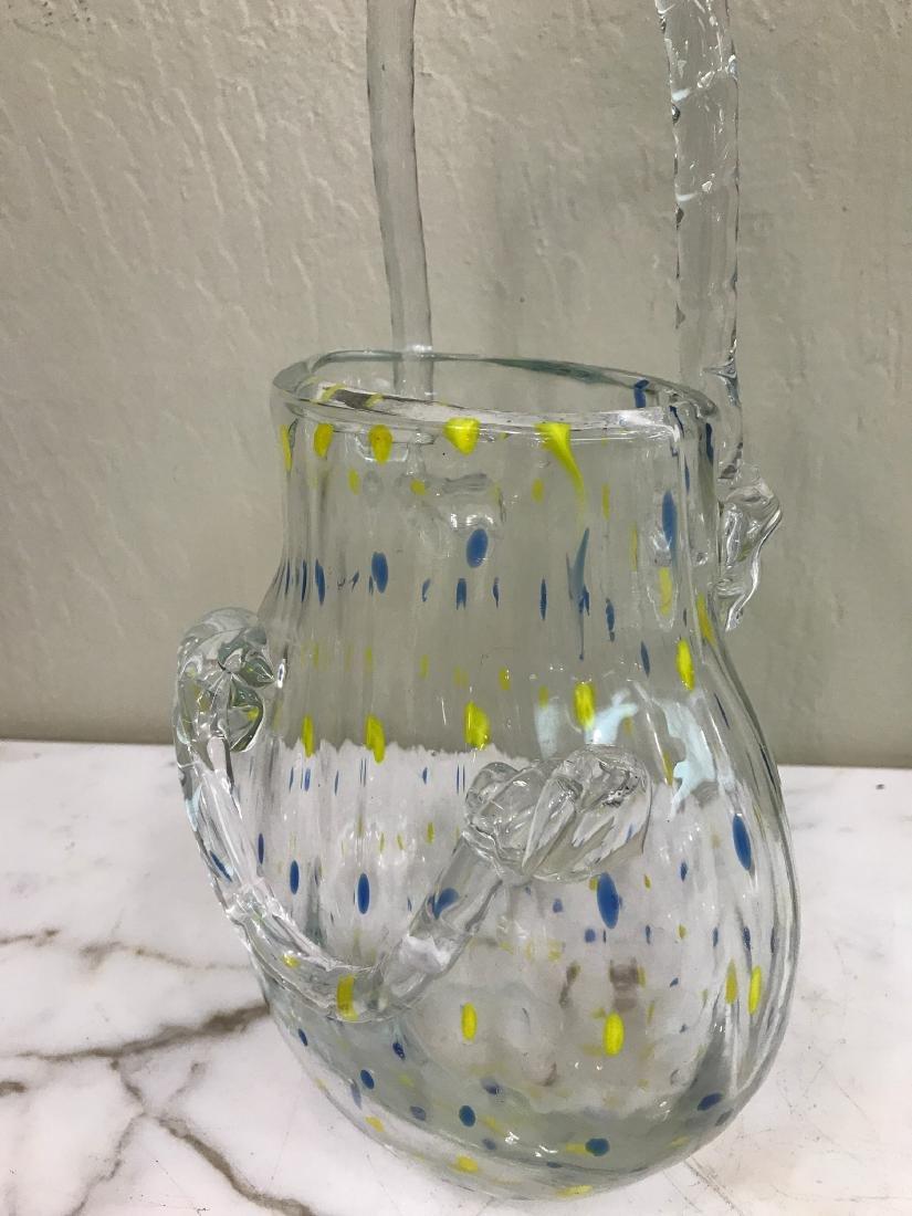 Hand-Blown Glass Purse-Shaped Vase - 5
