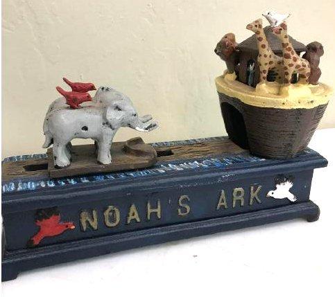 Noah's Ark Mechanical Bank