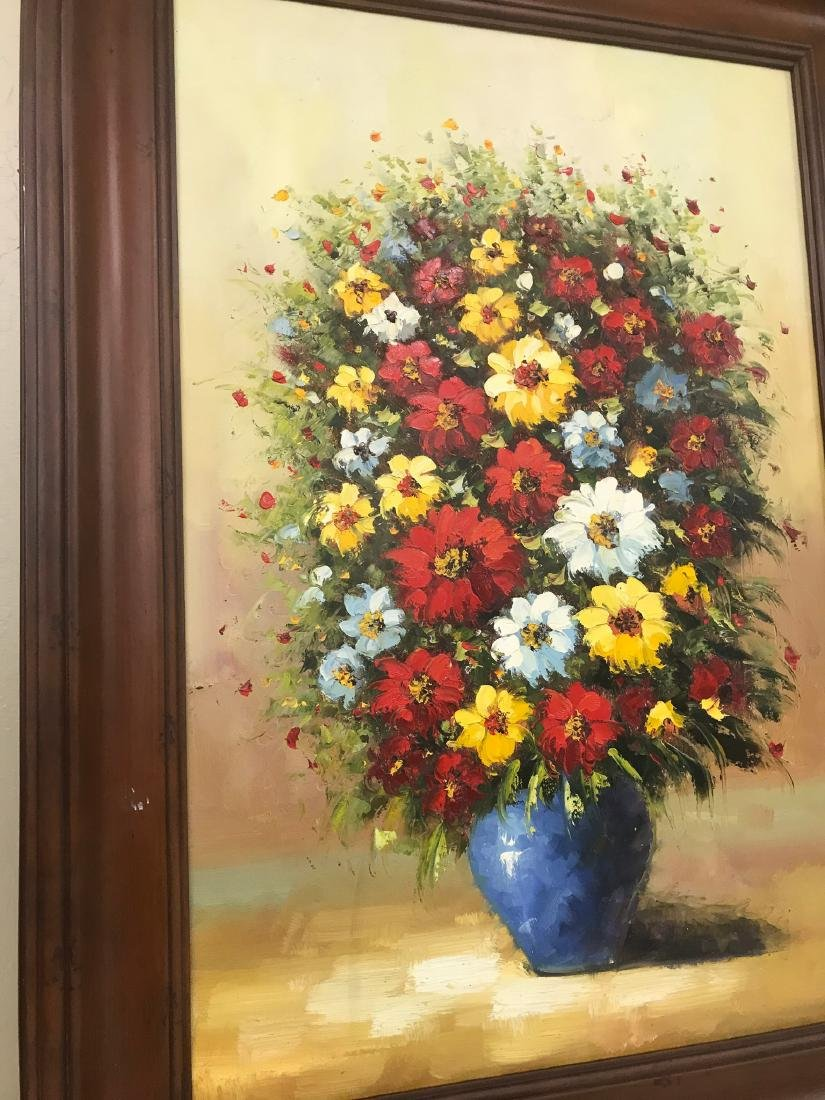 Oil on Canvas of Bouquet of Flowers - 10