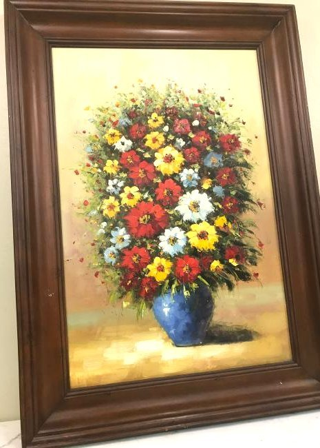 Oil on Canvas of Bouquet of Flowers