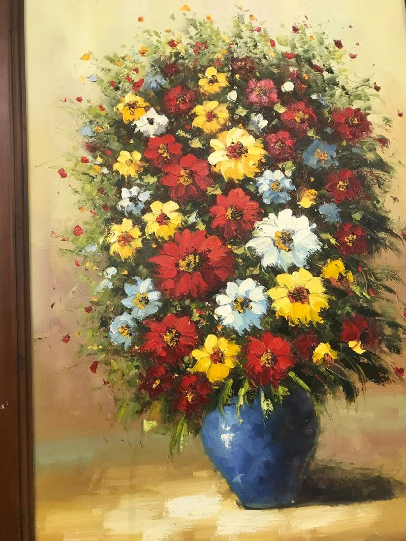 Oil on Canvas of Bouquet of Flowers - 2