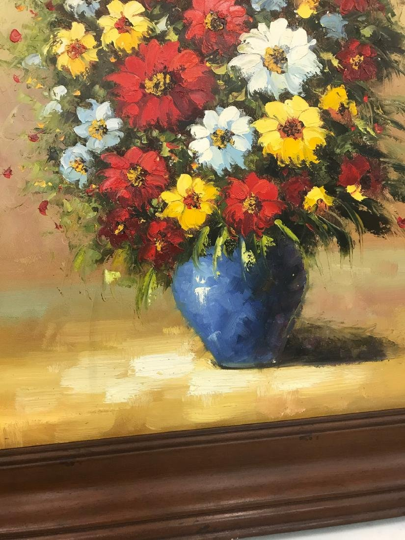 Oil on Canvas of Bouquet of Flowers - 3