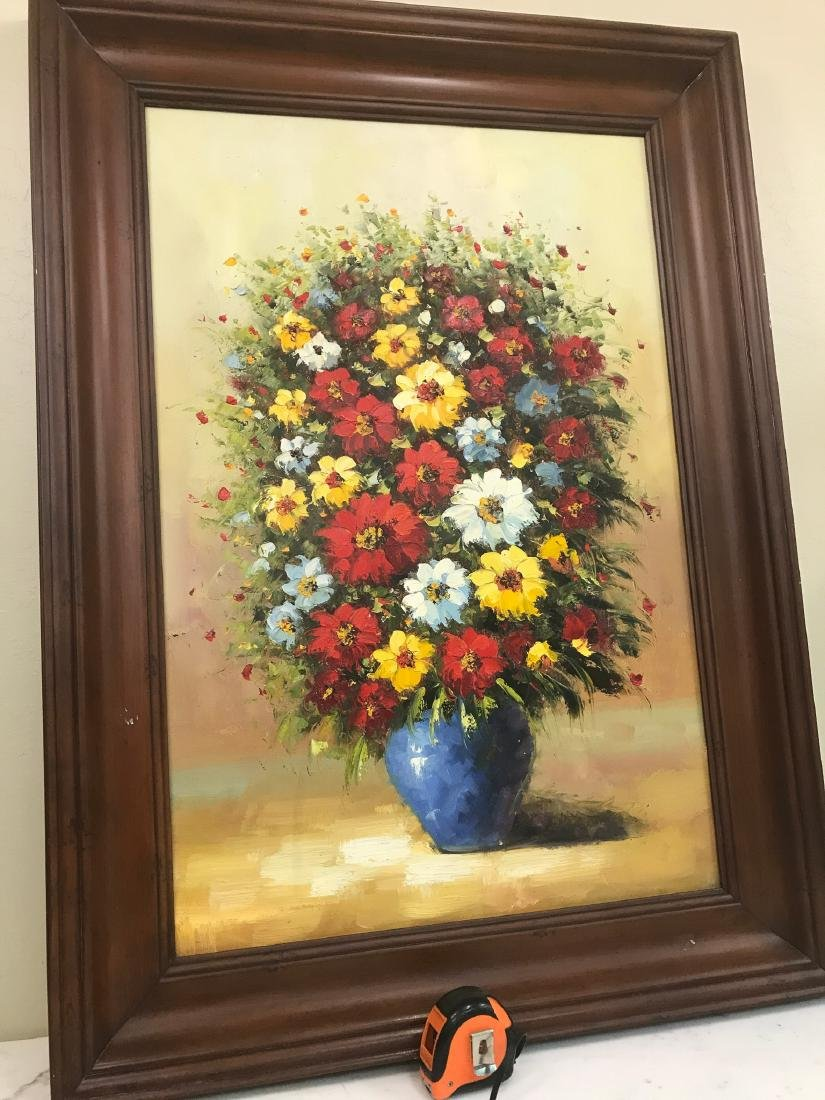 Oil on Canvas of Bouquet of Flowers - 4
