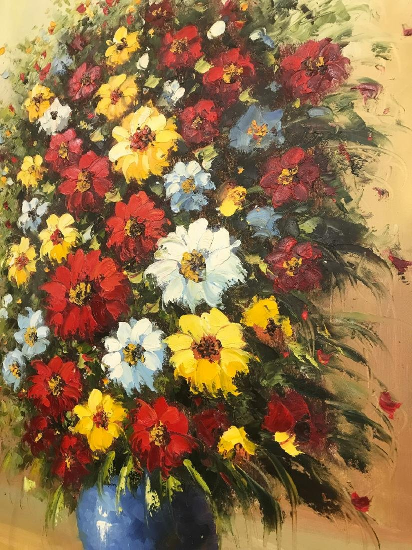 Oil on Canvas of Bouquet of Flowers - 6