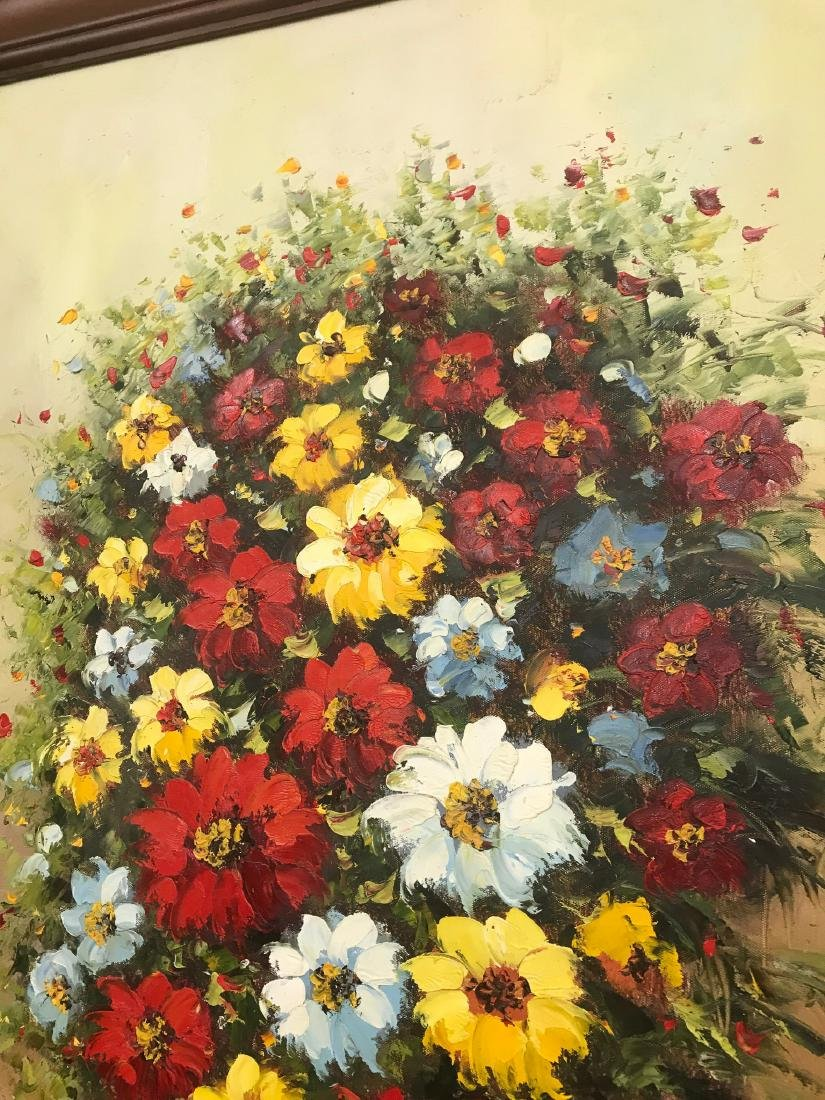 Oil on Canvas of Bouquet of Flowers - 7