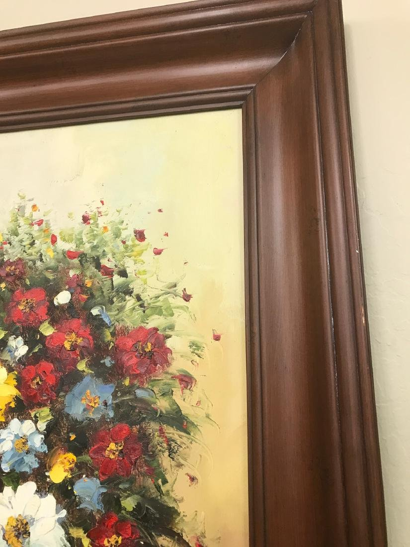 Oil on Canvas of Bouquet of Flowers - 8