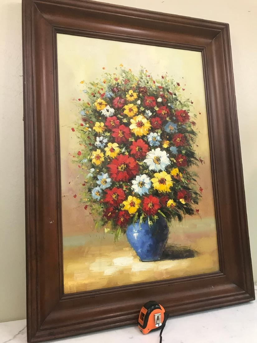 Oil on Canvas of Bouquet of Flowers - 9