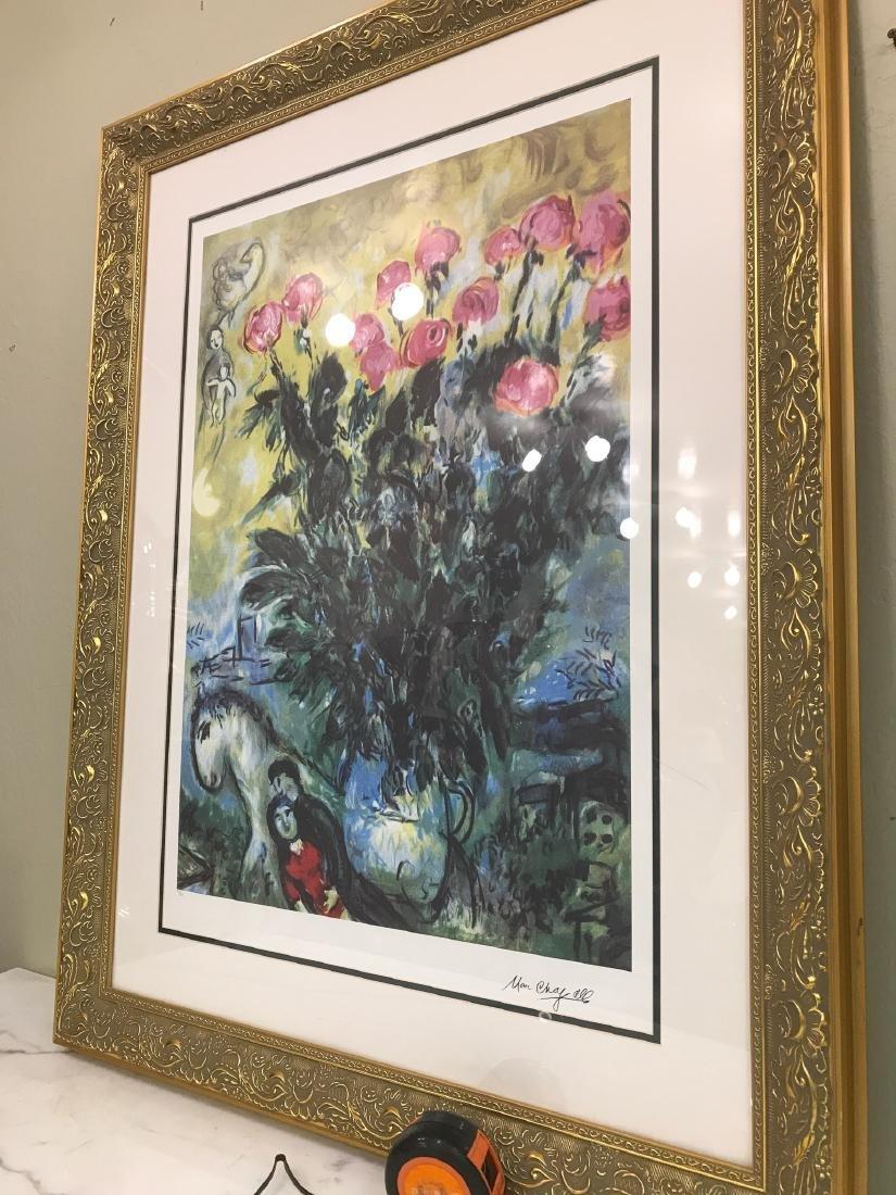 """Les Roses"" Lmd. Ed. Marc Chagall Print - 10"