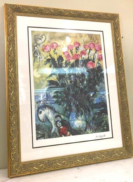 """Les Roses"" Lmd. Ed. Marc Chagall Print"