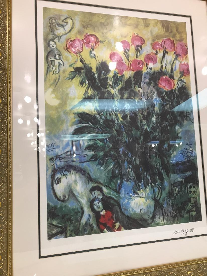 """Les Roses"" Lmd. Ed. Marc Chagall Print - 2"
