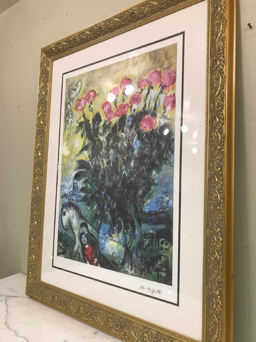 """Les Roses"" Lmd. Ed. Marc Chagall Print - 4"
