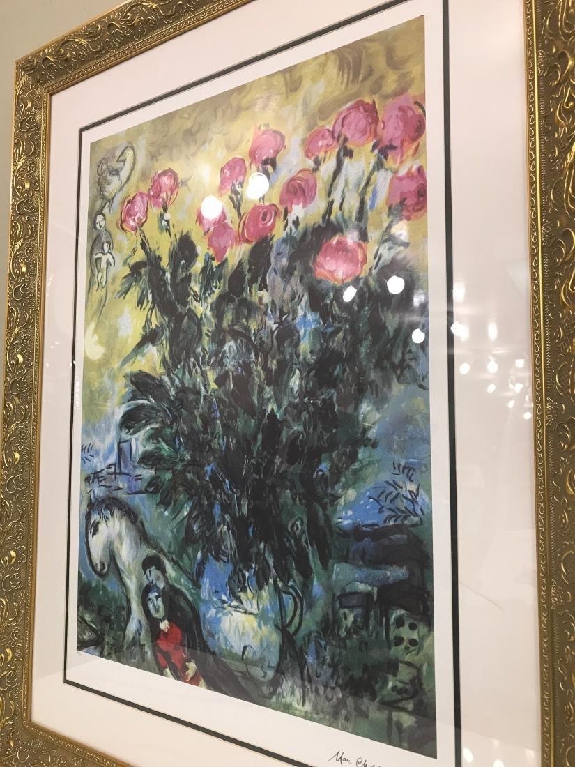 """Les Roses"" Lmd. Ed. Marc Chagall Print - 5"