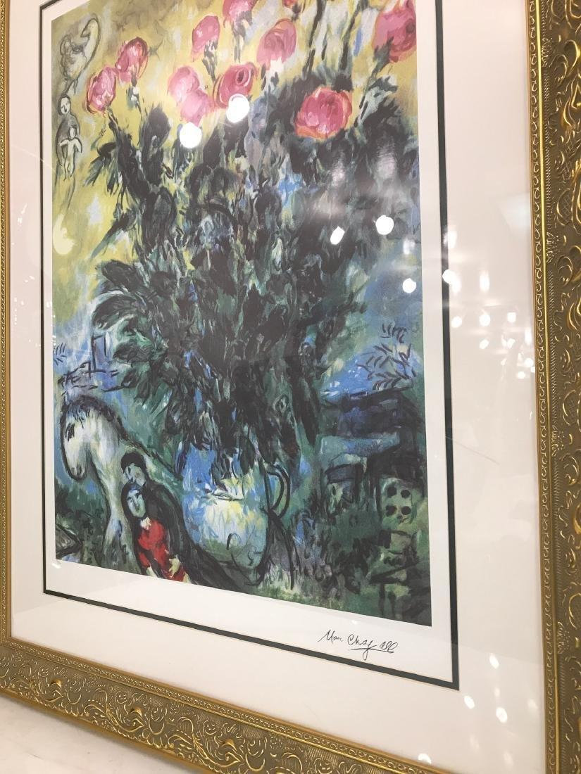 """Les Roses"" Lmd. Ed. Marc Chagall Print - 7"