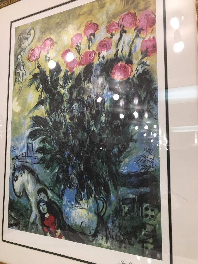 """Les Roses"" Lmd. Ed. Marc Chagall Print - 8"