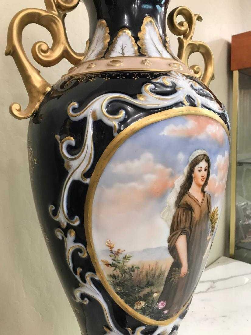 Pair of Porcelain Vases w/ Biblical Scenery - 9