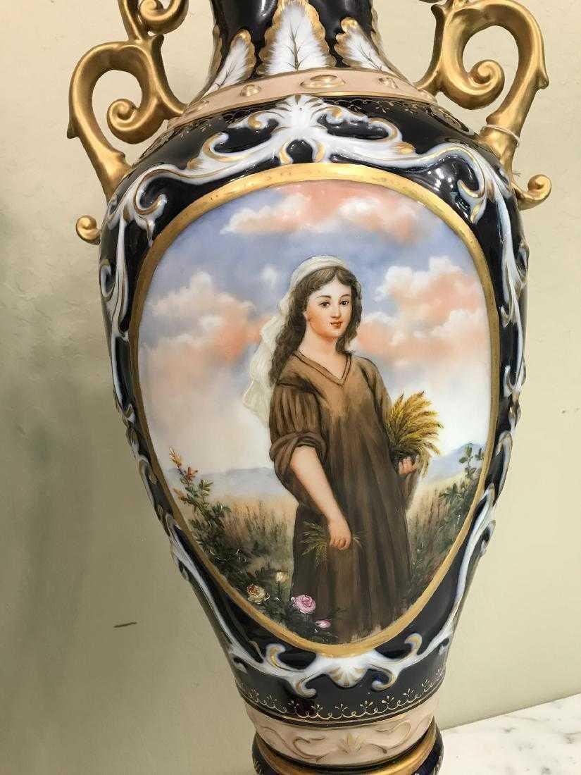 Pair of Porcelain Vases w/ Biblical Scenery - 4