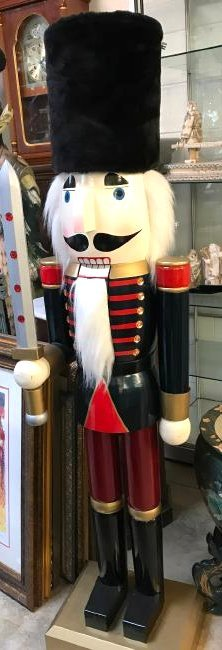 Large Wooden Nutcracker w/ Sword