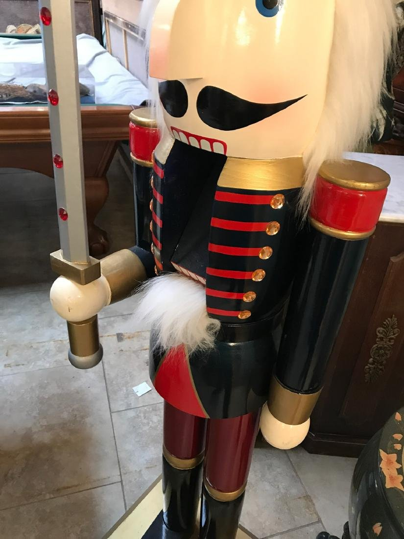 Large Wooden Nutcracker w/ Sword - 4