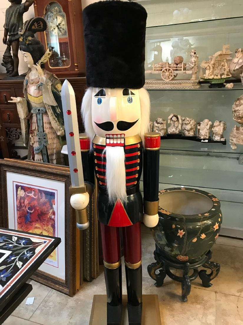 Large Wooden Nutcracker w/ Sword - 7