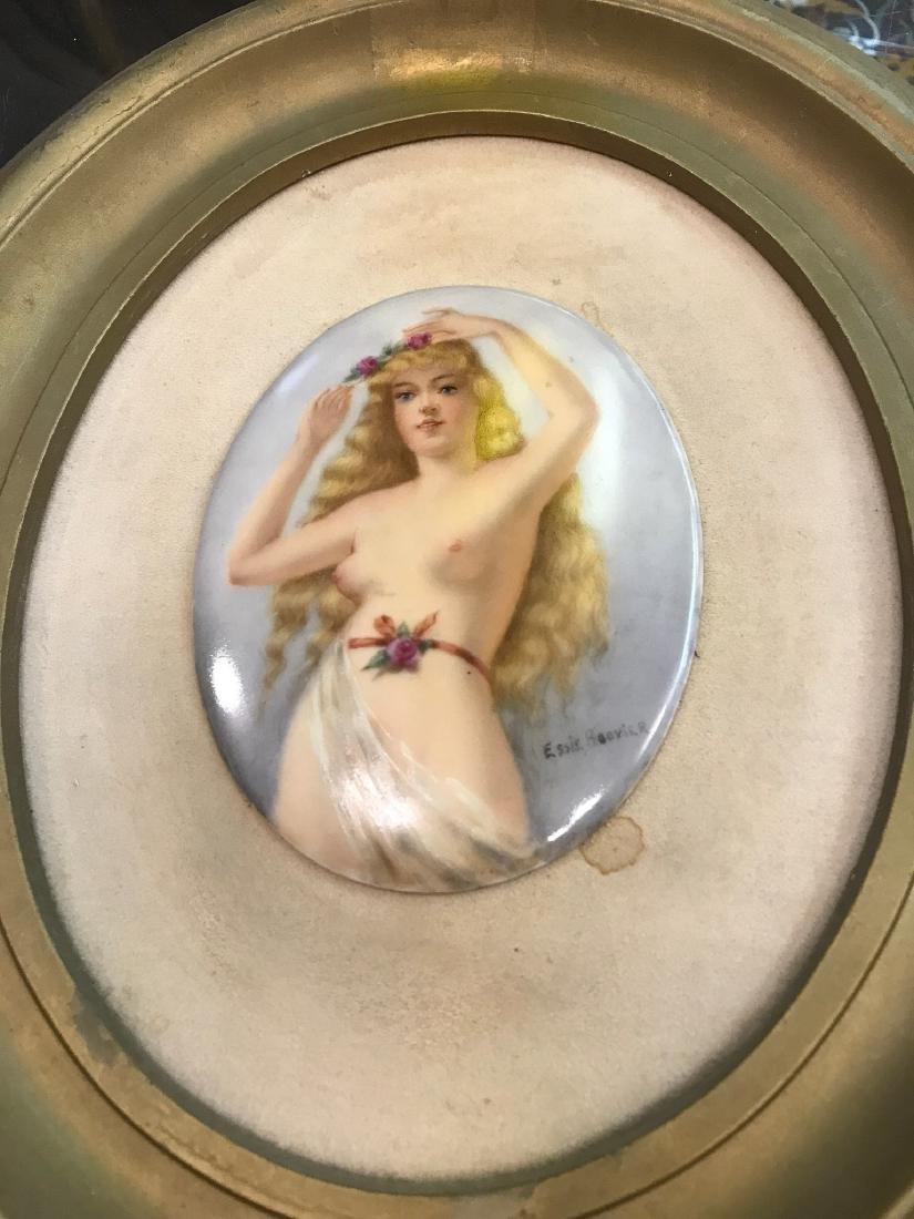 Vintage Porcelain Plaque of Nude Woman - 6