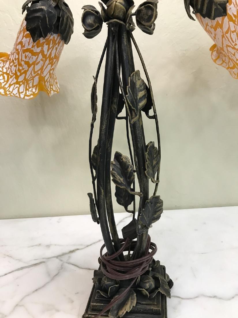 Bronze, Hand-Blown Glass Table Lamp - 4