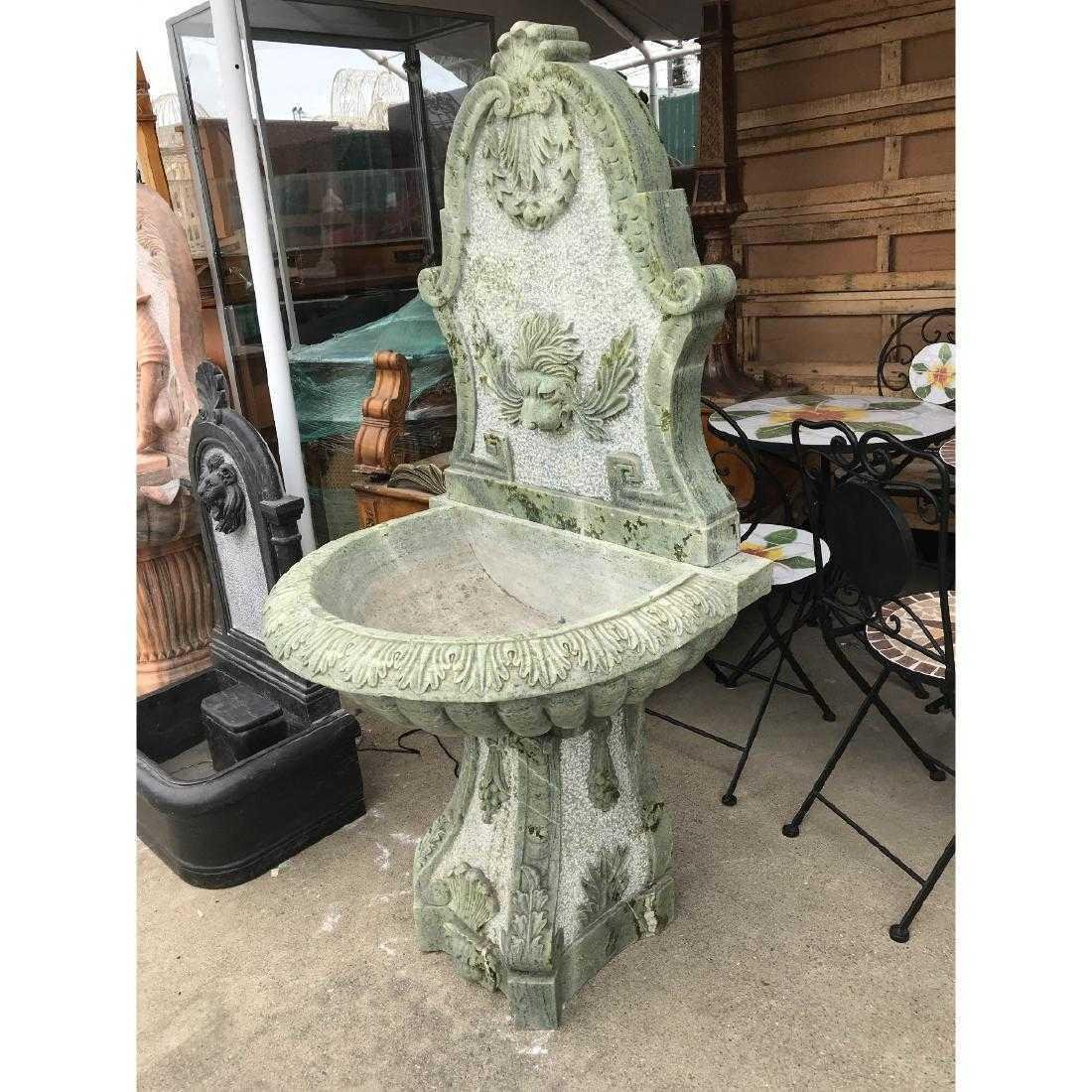 Green Marble Fountain with Lion Head - 10