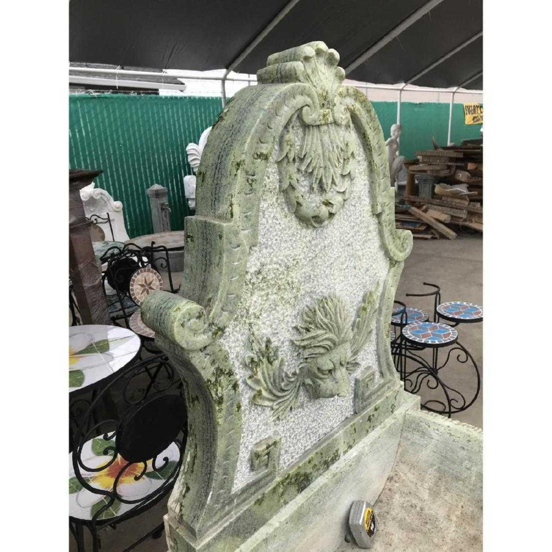 Green Marble Fountain with Lion Head - 7