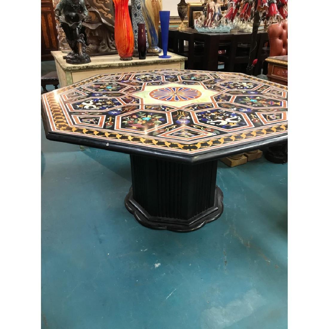 Mosaic Pietra Dura Octagon-Shaped Table