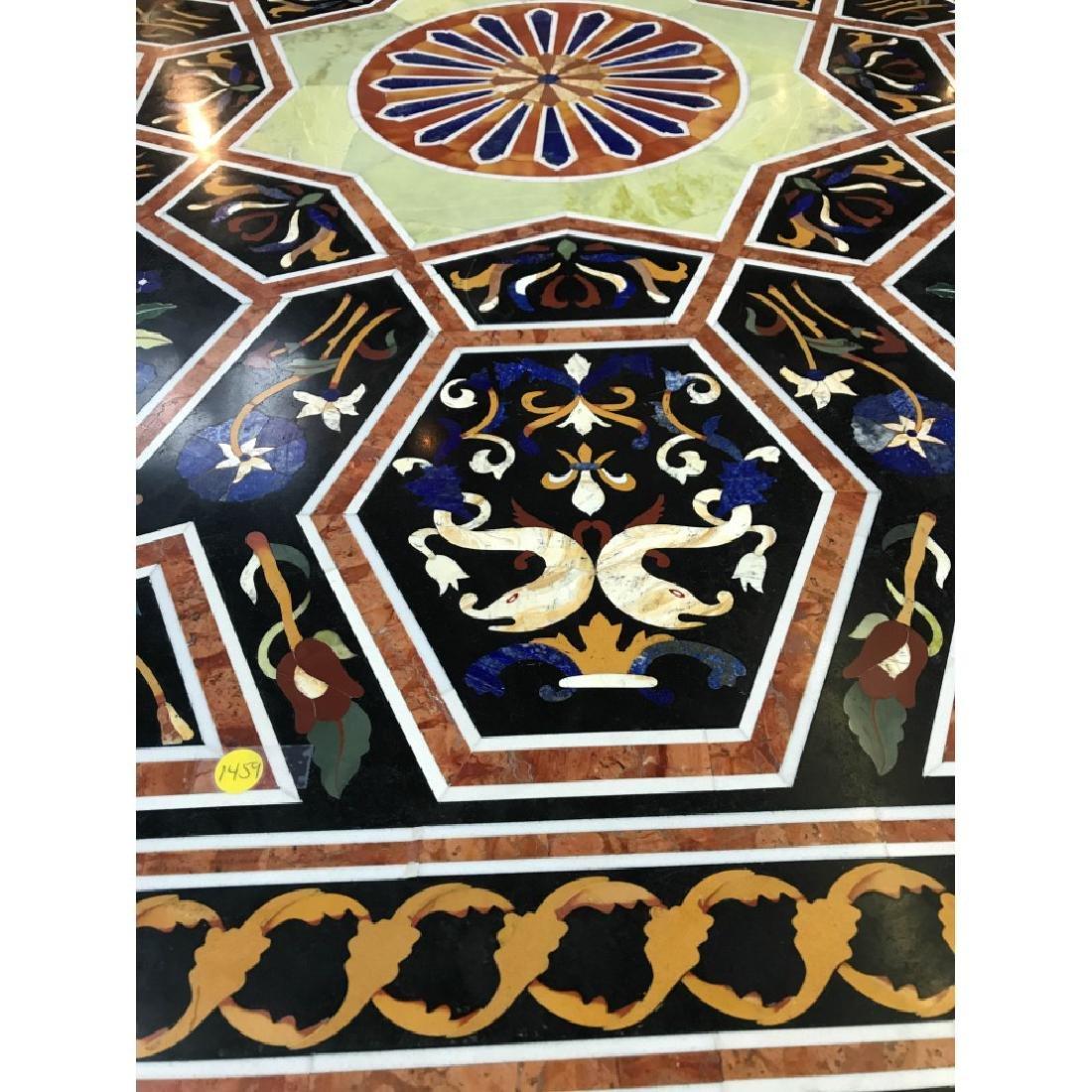 Mosaic Pietra Dura Octagon-Shaped Table - 3