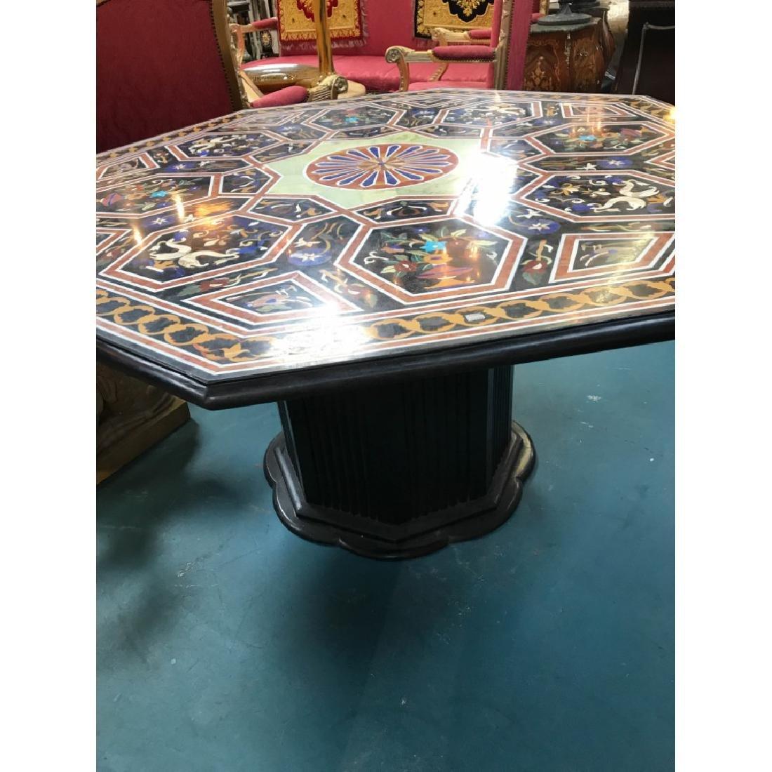 Mosaic Pietra Dura Octagon-Shaped Table - 5