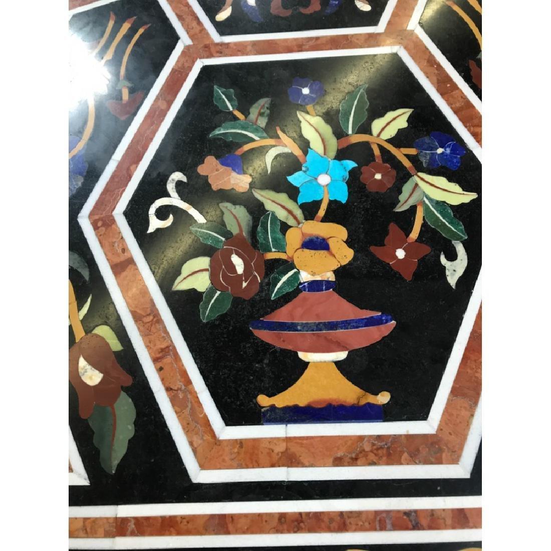 Mosaic Pietra Dura Octagon-Shaped Table - 6