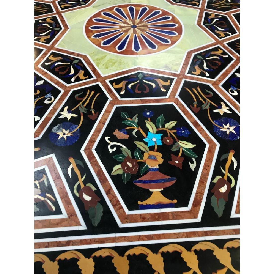 Mosaic Pietra Dura Octagon-Shaped Table - 8