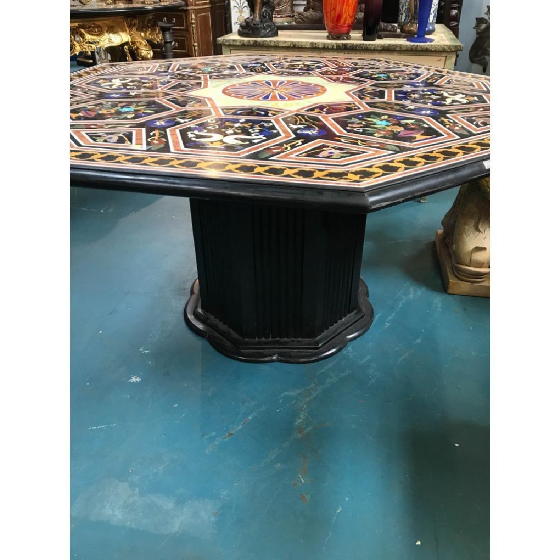 Mosaic Pietra Dura Octagon-Shaped Table - 9