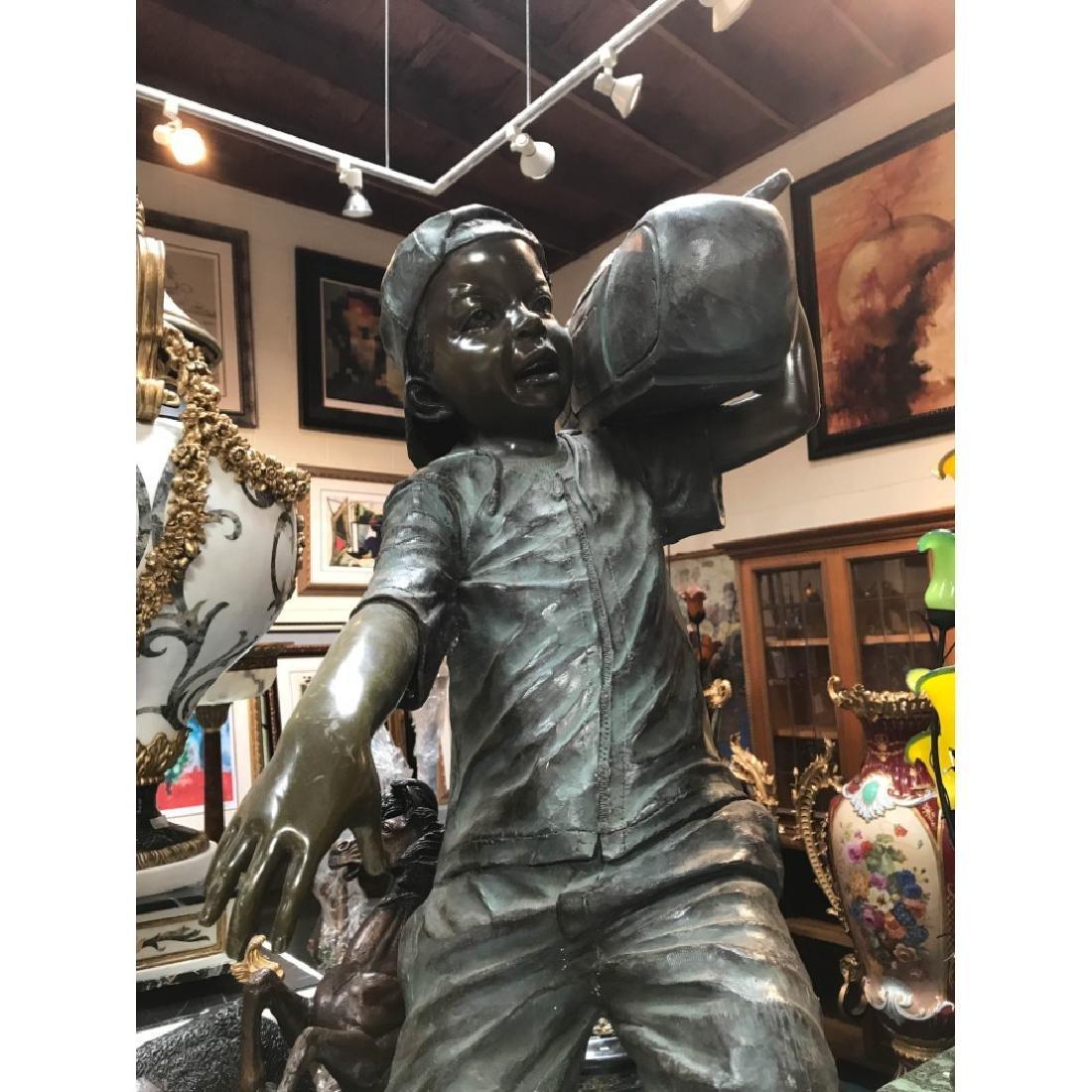 Bronze Statue of Boy w/ Boombox by J. Davidson - 2