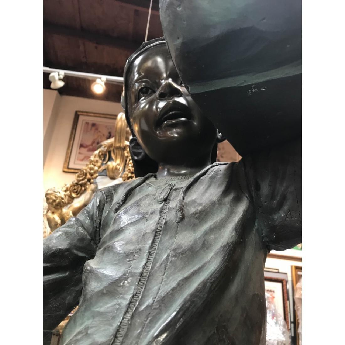 Bronze Statue of Boy w/ Boombox by J. Davidson - 5